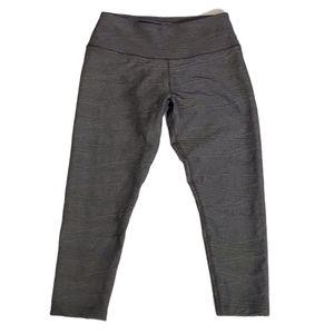 BCG Gray Textured Workout Capri Leggings M